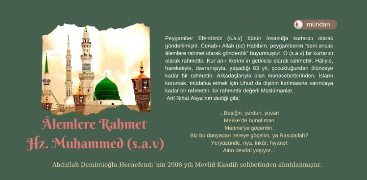 Âlemlere Rahmet Hz. Muhammed (s.a.v) 1.Bölüm